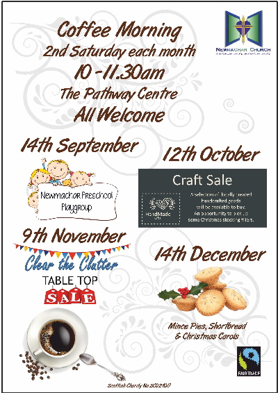 Coffee Morning flyer Sept-Dec 19